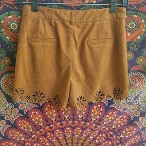 Shorts - Cut out suede shorts